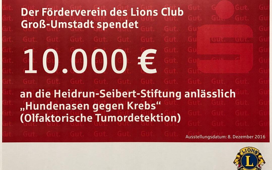 Lions Club Groß-Umstadt spendet 10.000 Euro